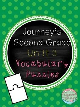 Journeys Second Grade - Unit 3 - Vocabulary Puzzles