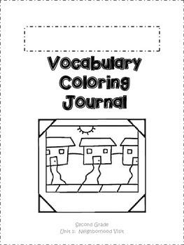 Journeys Vocabulary Coloring Grade 2 Theme 1