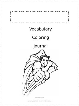 Journeys Vocabulary Coloring Grade 2 Theme 4