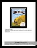 "Journey's Selection ""Old Yeller"" Comprehension & Vocabular"