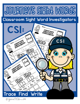 Kindergarten Journeys Sight Word Worksheets: Classroom Sig