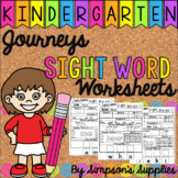 Journeys Sight Word Worksheets