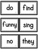 Journeys Sight Words- First Grade- Black/White