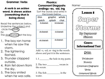 Journeys Skills Trifold Lesson 8 Super Storms