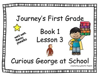 Journeys Slides First Grade Book 1 Lesson 3 Curious George