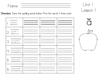 Journeys Spelling Handwriting Practice