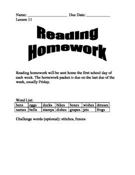 Journeys Spelling Homework for Unit 3 (Lessons 11-15)