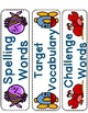 Journeys Spelling Word Cards (with an Ocean Theme) - Second Grade