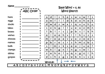 Spelling Word Searches and ABC Order Grade 2 Set 3
