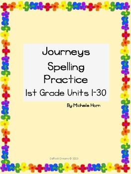 Journeys Spelling and Handwriting Practice for 1st Grade U