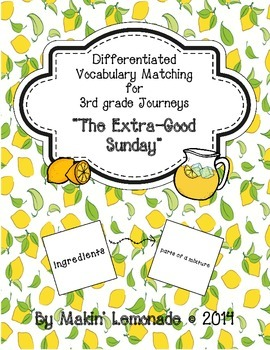 "Journeys: ""The Extra-Good Sunday"" Differentiated Vocabular"