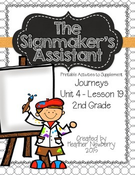 Journeys: The Signmaker's Assistant (Unit 4, Lesson 19)