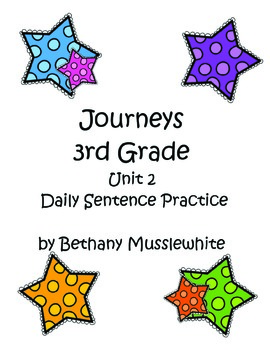Journeys Third Grade Daily Sentences Unit 2