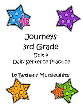 Journeys Third Grade Daily Sentences Unit 4