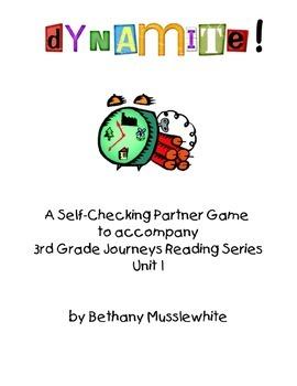 Journeys Third Grade Dynamite! Vocabulary Unit 1