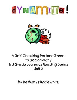 Journeys Third Grade Dynamite! Vocabulary Unit 2