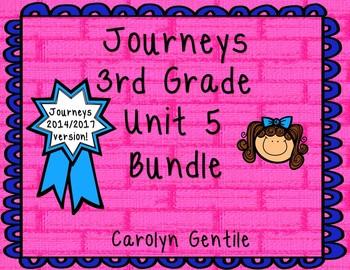 Journeys Third Grade Unit 5 Bundle 2014 Version