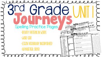 Journeys: Unit 1 3rd Grade Spelling Practice