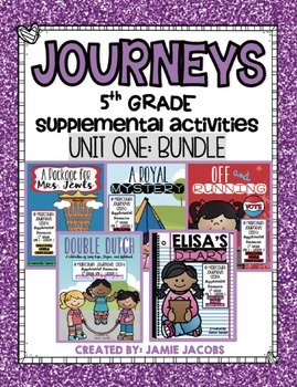 Journeys Unit 1 Bundle - Fifth Grade Supplemental Materials