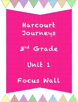 Journey's Unit 1 (Story 1) Grade 3 Focus Wall