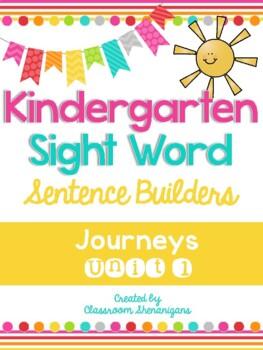 Journeys Unit 1 Kindergarten Sight Words Sentence Builder