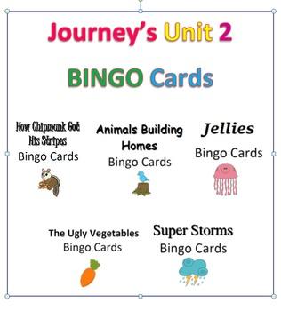 Journey's Unit 2 BINGO Cards