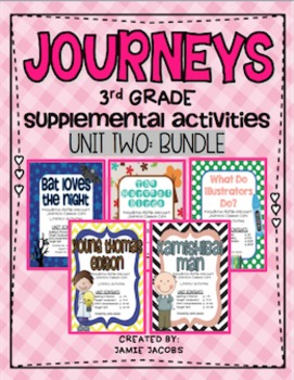Journeys Unit 2 Bundle - Third Grade Supplemental Materials