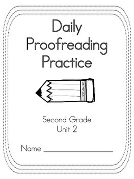 Journey's Unit 2 Daily Proofreading