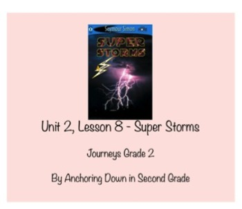 Journeys Unit 2, Lesson 8 Super Storms Smartboard Interact