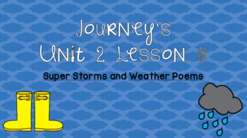 Journeys Unit 2 Lesson 8 Vocabulary Introduction PPT