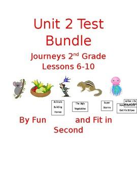 Journeys Lessons 6-10 Test Bundle