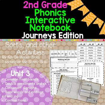 Journeys Unit 3 2nd Grade Phonics Skills, Interactive Note
