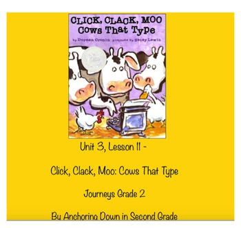 Journeys Unit 3, Lesson 11 Click, Clack, Moo: Cows That Ty