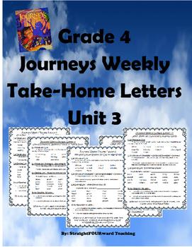 Journeys Unit 3: Weekly Parent Letters