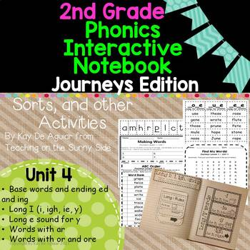 Journeys Unit 4 2nd Grade Phonics Skills, Interactive Note