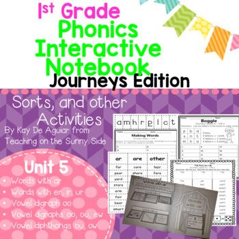 Journeys Unit 5 1st Grade Phonics Skills, Interactive Note