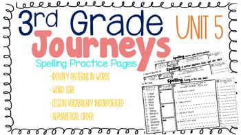 Journeys: Unit 5 3rd Grade Spelling Practice