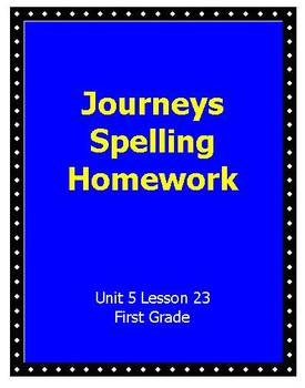 Journeys Unit 5 Lesson 23 Homework