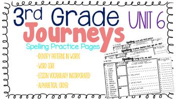 Journeys: Unit 6 3rd Grade Spelling Practice