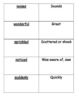 Journeys Vocabulary Cards Lesson 5