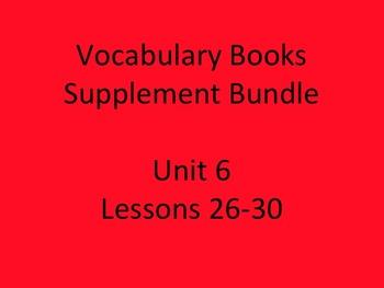 Journey's Vocabulary Books Bundle Unit 6