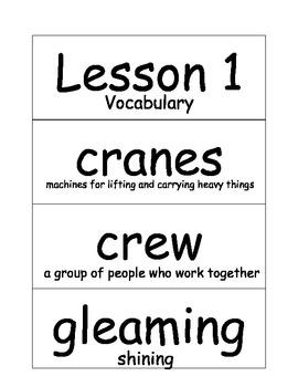 Journey's Vocabulary Cards-Kindegrarten