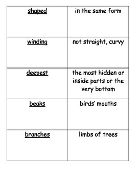 Journeys Vocabulary Cards Unit 2