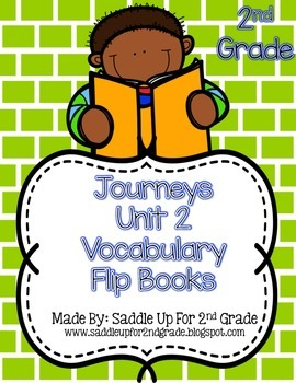 Journeys Vocabulary Flip Book: Unit 2 2nd Grade