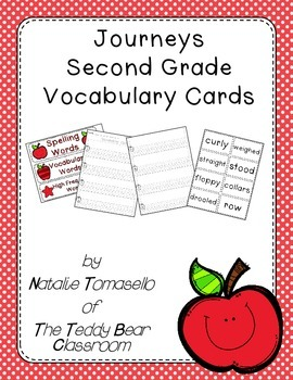 Journeys Vocabulary Word Cards - Second Grade