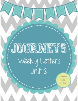 Journeys Weekly Letters: Lessons 6-10