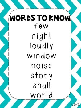Journeys Words to Know Posters Unit 5