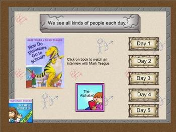 Journeys kindergarten smartboard Unit 1 lesson 2