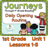 Journeys 1st Grade Daily Routine, Unit 1
