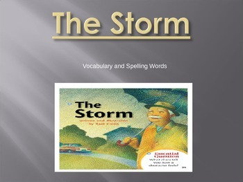 Journeys - First Grade - Lesson 2-The Storm-Voc. & Sp. Powerpoint